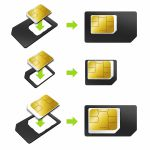 iPhone 3G SIM - MicroSIM - NanoSIM Adapters