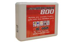 Unibrain FireRepeater 800, 2 vrije FireWire 800 poorten (9-polig) - 12543