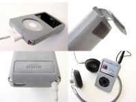 BIRD POCO G305 Alcantara etui voor iPod classic en iPod video 30 GB, silver - 13181