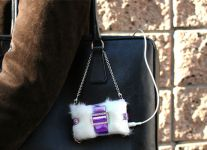 Tunewear PRIE JEWEL nano fur, Metallic Pink White - 13228