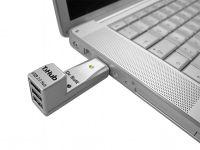 Dr. Bott T3Hub 2.0 Aluminium, 3-Port USB2 Hub, ultraportabel - 13290