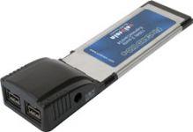 Unibrain FireCard800-e, 2-poorts FireWire 1394b ExpressCard34 - 13852