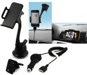 muvit iPhone Car Kit, Window Support & Charger - 14761