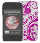 muvit Luxury Back, iPhone 4 Case, Fuchsia - 15606