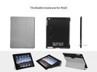 Zoom in op Beatles Bookcase voor iPad 4 & 3, Grijs