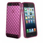 muvit miniGEL Flexy Diamonds, iPhone 5 Case, Pink - 17261