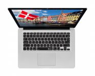 Deense ISO Keyboard Cover voor MacBook, Air & Pro - 17507