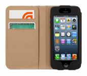 Griffin Midtown Passport Wallet, Lederen iPhone 5 / 5C / 5S Case, Zwart - 17527