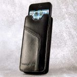 Ten97 Leather Pouch, Echt Lederen iPhone 5 / 5C / 5S & iPhone 4 / 4S Sleeve, Zwart - 17655