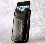 Ten97 Leather Pouch, Echt Lederen iPhone 5 / 5C / 5S & iPhone 4 / 4S Sleeve, Zwart - 17655