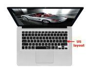 Duitse QWERTZ Keyboard Cover voor MacBook, Air & Pro, US Toetsenbord - 17659