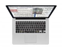 Sibelius QWERTY Keyboard Cover voor MacBook, Air & Pro - 18217