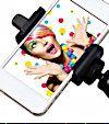 Rollei Selfie Clip, Houder met Statief Adapter voor iPhone & Smartphones - 18443