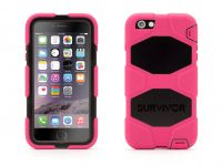 Griffin Survivor All-Terrain, iPhone 6 Plus Case, Pink Zwart - 18493
