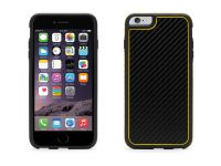Griffin Identity Graphite, iPhone 6 Plus Carbon Case, Zwart Geel - 18561