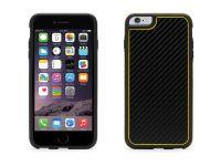 Zoom in op Griffin Identity Graphite, iPhone 6 Plus Carbon Case, Zwart Geel