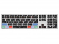 Zoom in op Logic Pro X QWERTY Keyboard Cover voor Apple Ultra-Thin Keyboard met Num Pad