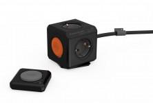 allocacoc PowerCube Remote Extended met PowerRemote, 4-voudige stekkerdoos, zwart - 18945