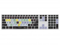 Zoom in op Final Cut Pro X AZERTY Keyboard Cover voor Apple Ultra-Thin Keyboard met Num Pad