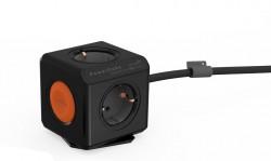 allocacoc PowerCube Remote Extended Zwart met Schakelaar, 4-voudige stekkerdoos, 230V , zwart - 18956