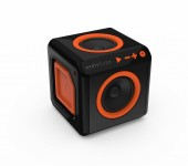 allocacoc audioCube EU, Bluetooth Lautsprecher im Cube Design, schwarz / orange - 18971