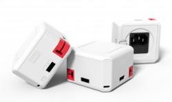 allocacoc PowerUSB Portable, 4-Poorts USB Hub met Accu, 230V Schuko + DE TravelPlug - 19003