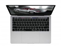 Zoom in op Duitse QWERTZ Keyboard Cover voor MacBook Pro met Touch Bar (Late 2016)