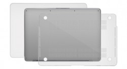 Zoom in op Macally ProShell voor MacBook Pro 15 met Touch Bar (Late 2016), Transparant