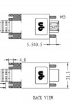 Unibrain FireWire 800 Kabel, 9-9 polig, schroefbaar, 7,7 m - 19161