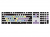 Zoom in op Final Cut Pro X QWERTY Keyboard Cover voor Apple Ultra-Thin Aluminium Keyboard met Numeriek Toetsenblok